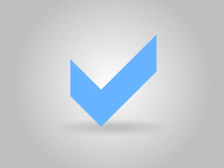 Flat icon of check box Vector