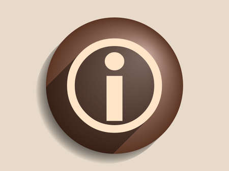 Flat long shadow icon of info Vector