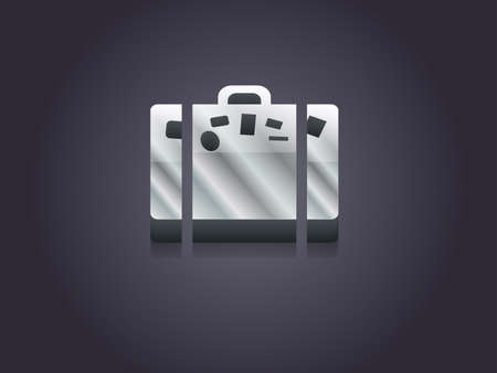 3d Vector illustration of bag icon Vector