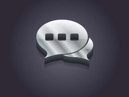 3d Vector illustration of communication icon  Vector