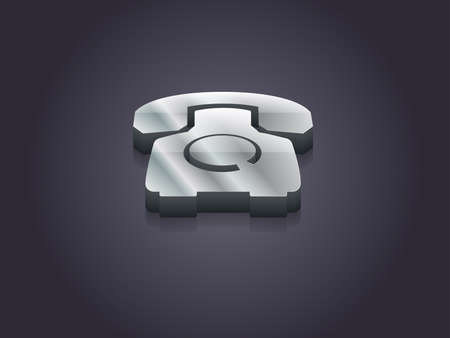 old phone: 3d Vector illustration of old phone icon Illustration