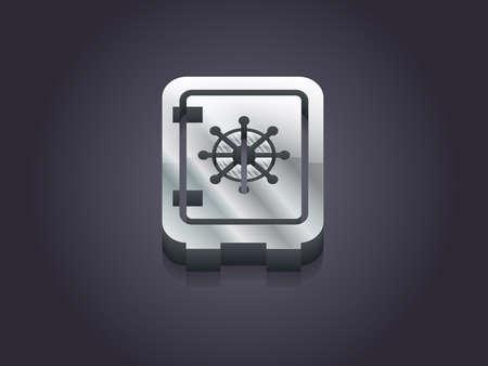 3d Vector illustratie van een veilige pictogram
