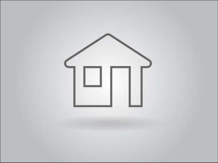Flat icon of home Vector