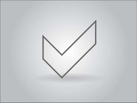 Flat icon of check box Vector