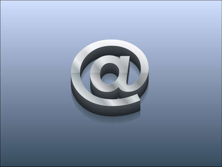 3d Vector illustration of email icon Vector