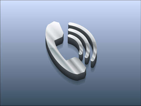 3d Vector illustration of old phone icon Illustration