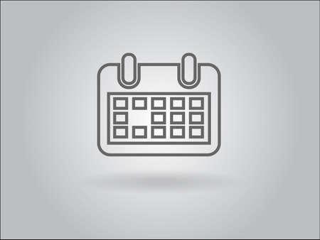 Flat icon of calendar Stock Vector - 29186441