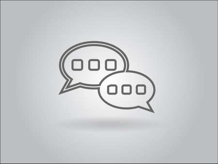 Flat  icon of a communication Vector