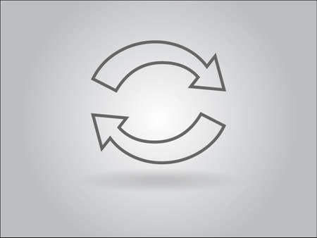 Flat icon of cyclic Illustration