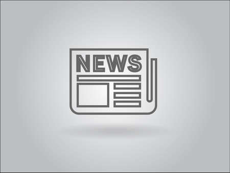 Flat  icon of news Stock Vector - 29186462