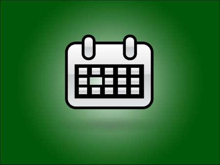 Flat icon of calendar Stock Vector - 29186525