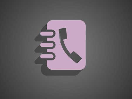 contact icon: contact opnemen met het pictogram Stock Illustratie