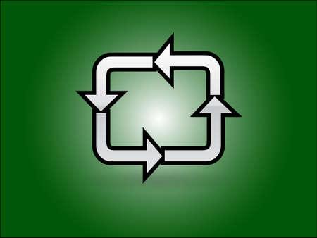 c�clico: Icono plano de c�clico