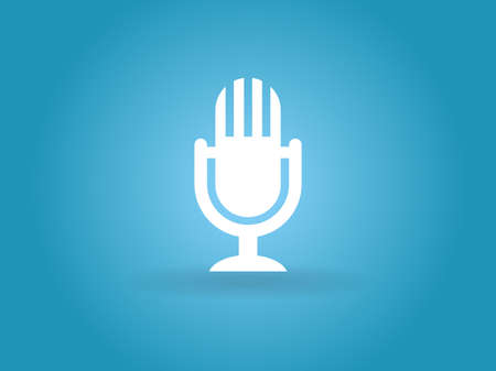 Flat  icon of microphone Illustration