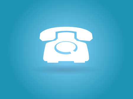 Flat icon of a phone Stock Vector - 29186842