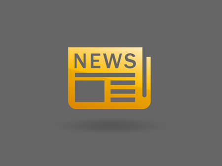 Flat  icon of news Stock Vector - 29187065