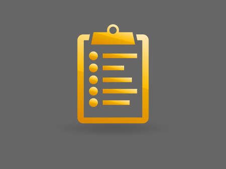 Flat icon of clipboard Vector