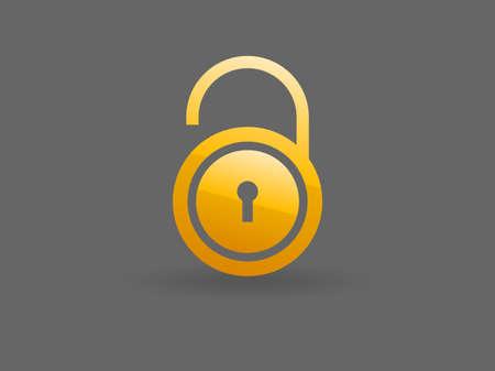 Flat icon of unlock Vector