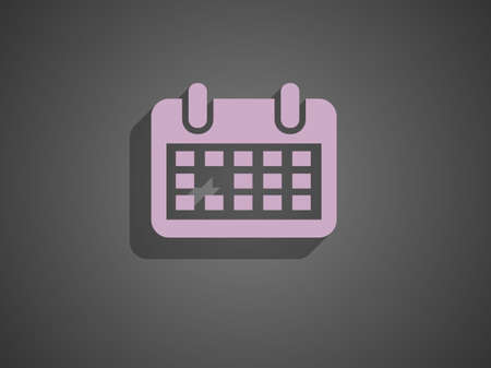 Flat icon of calendar Vector