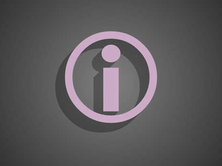 Flat icon of info Vector