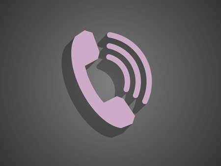 Flat icon of a phone Stock Vector - 29187309
