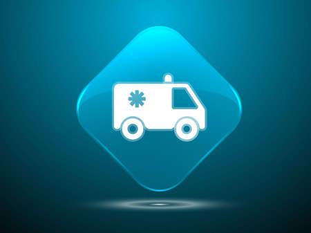 3d Vector illustration of ambulance icon Vector