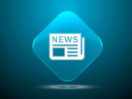 3d Vector illustration of news icon Stock Vector - 29187493