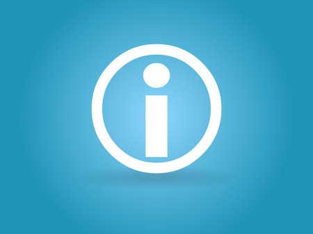 Flat icon of info Illusztráció