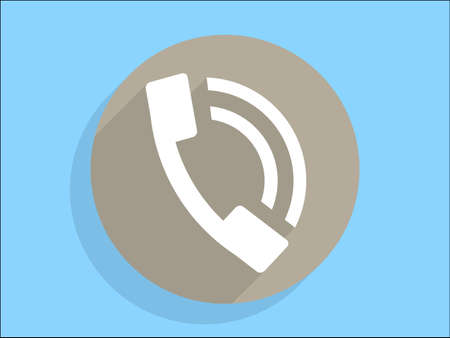 Flat long shadow icon of a phone Stock Vector - 29187717