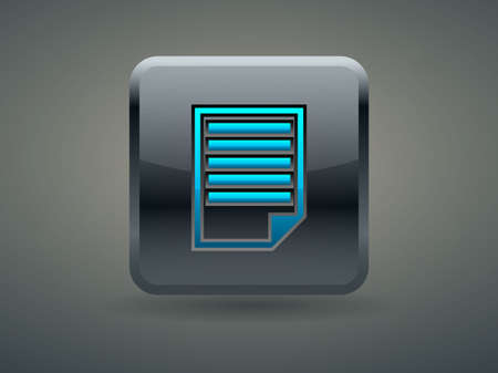3d Vector illustration of notes icon Illustration