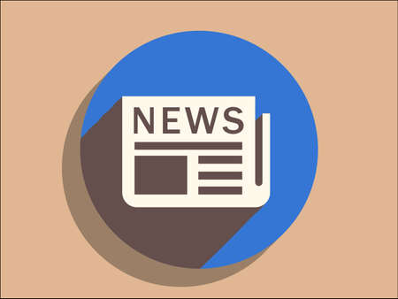 Flat long shadow icon of news Stock Vector - 29188193