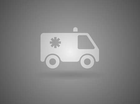 Flat  icon of ambulance Vector