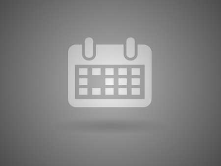Flat icon of calendar Stock Vector - 29188389