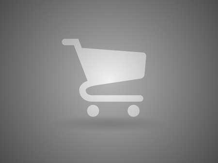 shopping cart icon: Flat icon of shopping chart Illustration