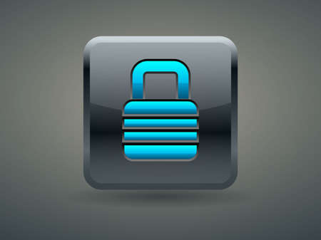 forbidden to pass: 3d Vector illustration of lock icon