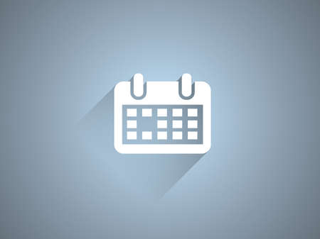 event planning: Flat long shadow icon of calendar