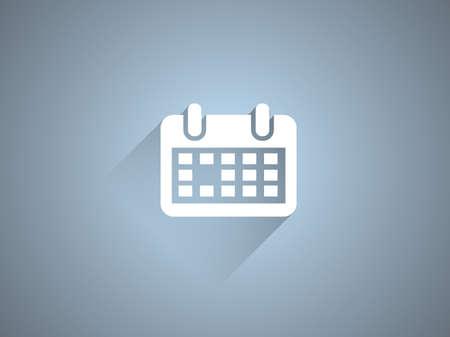 calender icon: Flat long shadow icon of calendar