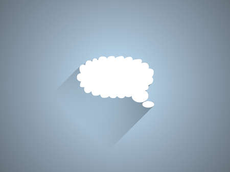 Flat long shadow icon of a communication Vector