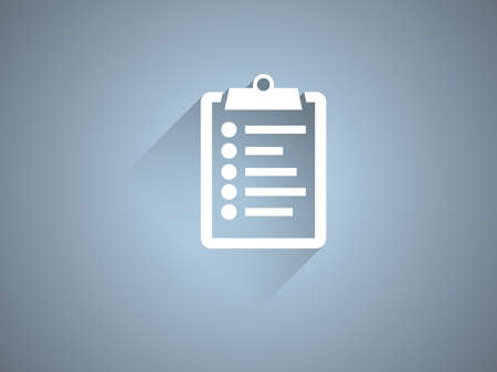 Flat long shadow icon of clipboard Vector