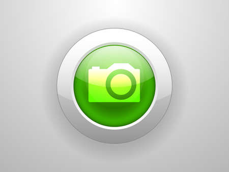 3d Vector illustration of a camera icon  Vector