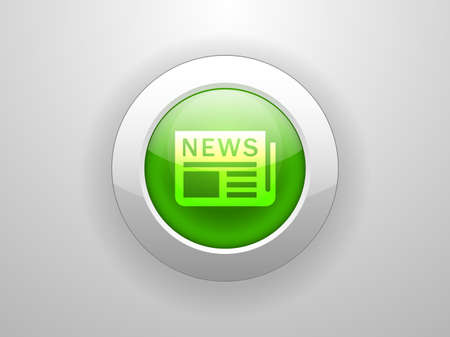 3d Vector illustration of news icon Stock Vector - 29189232