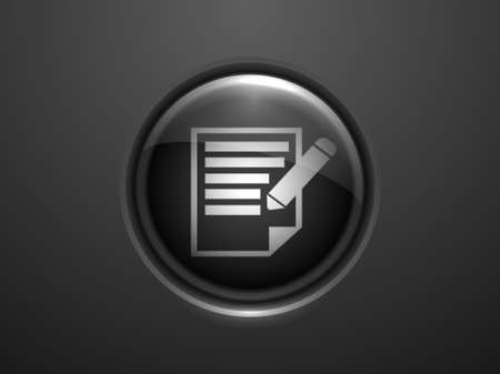 3d Vector illustration of notes icon Vector