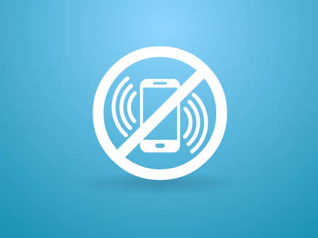 no cell phone: turn off phone icon