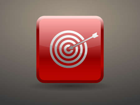 glossiness: 3d glossiness button icon of aim