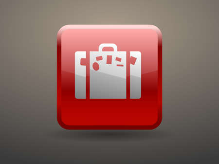 glossiness: 3d glossiness button icon of bag