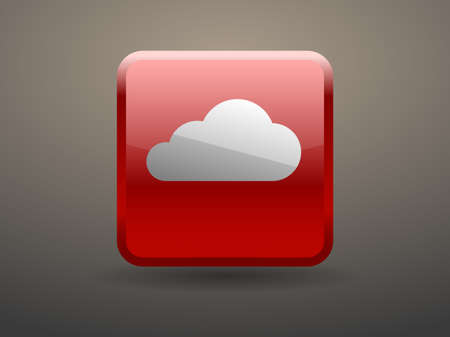 glossiness: 3d glossiness button icon of cloud