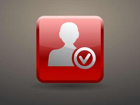 glossiness: 3d glossiness button add friend icon