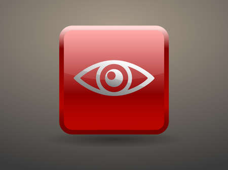 supervision: 3d glossiness button icon of supervision Illustration