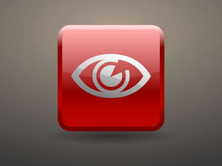 glossiness: 3d glossiness button icon of supervision Illustration