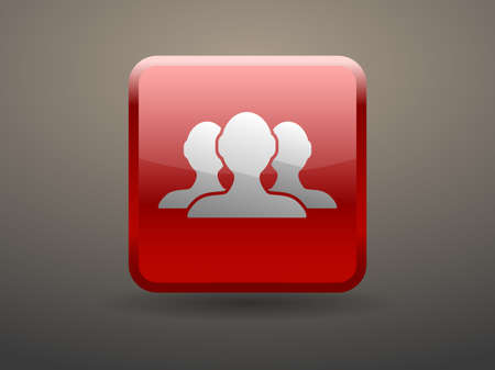 glossiness: 3d glossiness button icon of team work